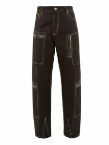 Eytys - Contrast Stitch Cargo Trousers - Mens - Black