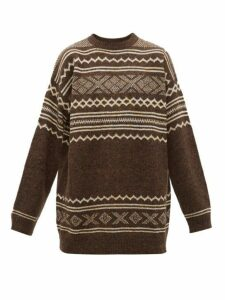 Hope - Apres Fair Isle Intarsia Sweater - Mens - Brown