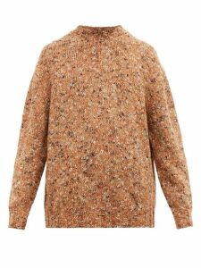 Raey - Crew Neck Tweed Wool Blend Sweater - Mens - Orange