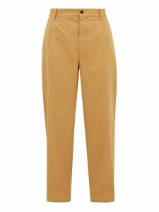 Raey - Wide Leg Cotton Twill Utility Trousers - Mens - Brown