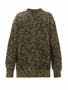 Raey - Crew Neck Tweed Effect Wool Blend Sweater - Mens - Khaki