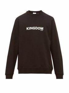 Burberry - Kingdom Logo Print Cotton Jersey Sweatshirt - Mens - Black