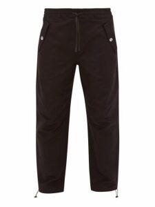 Maison Kitsuné - Drawstring Cuff Twill Trousers - Mens - Black