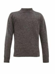 Schnayderman's - Crew Neck Mohair Blend Sweater - Mens - Grey