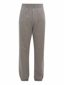 The Row - Olin Cuffed Ankle Cotton Track Pants - Mens - Grey
