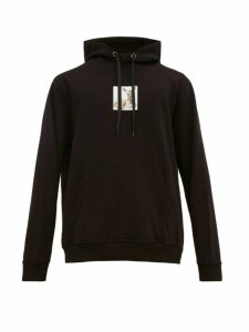 Burberry - Fawn Print Cotton Jersey Hooded Sweatshirt - Mens - Black