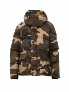 Moncler - Dary Camouflage Down Filled Cotton Jacket - Mens - Khaki Multi