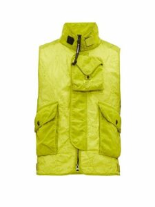 C.p. Company - Multi Pocket Quilted Gilet - Mens - Green