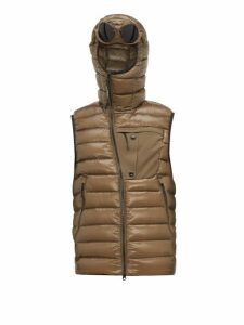 C.p. Company - D.d. Shell Quilted Goggle Gilet - Mens - Khaki