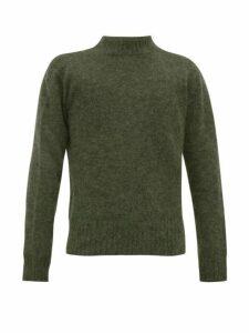 Schnayderman's - Crew Neck Mohair Blend Sweater - Mens - Green