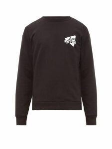 A.p.c. - Logo Print Cotton Sweatshirt - Mens - Black
