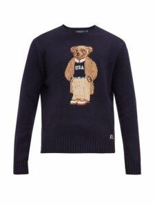 Polo Ralph Lauren - Crew Neck Bear Intarsia Wool Sweater - Mens - Navy