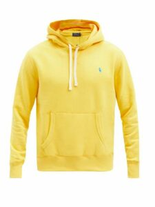 Polo Ralph Lauren - Logo Embroidered Cotton Blend Hooded Sweatshirt - Mens - Yellow