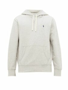 Polo Ralph Lauren - Logo Embroidered Cotton Blend Hooded Sweatshirt - Mens - Grey