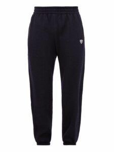 Gmbh - Shield Mesh Insert Wool Track Pants - Mens - Navy