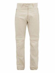 Gmbh - Yolanda Zipped Cargo Trousers - Mens - Beige