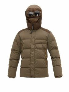 C.p. Company - Goggle Hood Down Filled Technical Hooded Jacket - Mens - Green