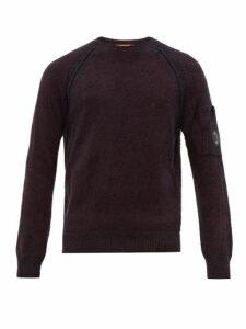 C.p. Company - Lens Embellished Technical Fleece Sweatshirt - Mens - Dark Brown