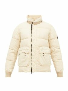 Stone Island - Garment Dyed Linen Puffer Jacket - Mens - White