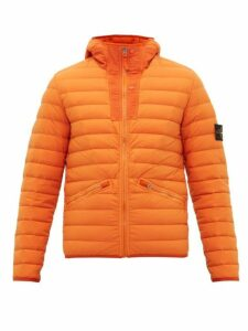 Stone Island - Lightweight Down Filled Hooded Coat - Mens - Orange