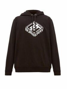 Burberry - Tb Logo Cotton Blend Hooded Sweatshirt - Mens - Black
