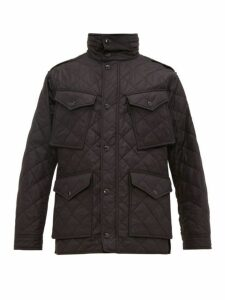 Burberry - Check Lined Quilted Field Jacket - Mens - Black