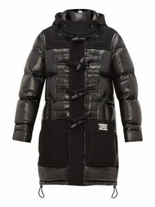 Burberry - Hooded Technical Wool And Quilted Down Coat - Mens - Black