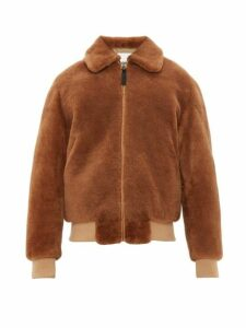 Yves Salomon - Shearling Bomber Jacket - Mens - Brown