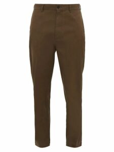 Raey - Tapered Cotton Chino Trousers - Mens - Brown