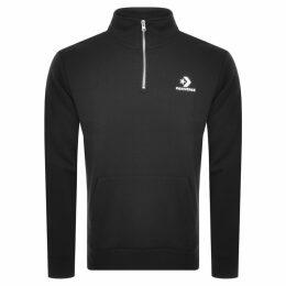 Converse Star Chevron Half Zip Sweatshirt Black