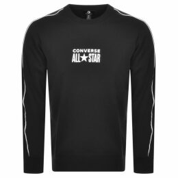 Converse All Star Logo Crew Neck Sweatshirt Black