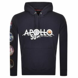 Alpha Industries Apollo 50 Patch Hoodie Navy