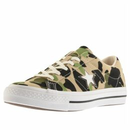 Converse One Star Camouflage Trainers Khaki