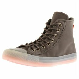 Converse All Star Hi Top Trainers Brown