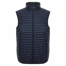 Emporio Armani Quilted Gilet Blue