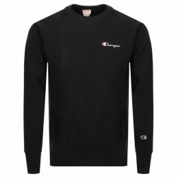 Champion Crew Neck Logo Sweatshirt Black