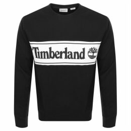 Timberland Cut And Sew Logo Sweatshirt Black