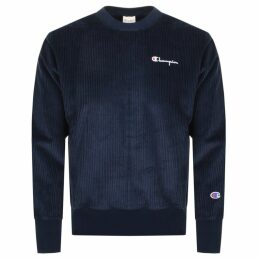 Champion Crew Neck Logo Sweatshirt Navy