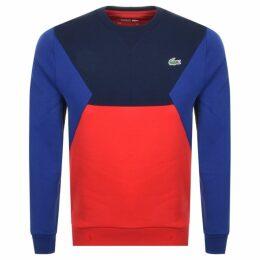 Lacoste Sport Crew Neck Sweatshirt Red