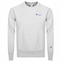 Champion Crew Neck Logo Sweatshirt Grey