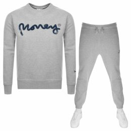 Money Sig Ape Crew Neck Tracksuit Grey