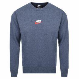 Nike Crew Neck Heritage Sweatshirt Navy