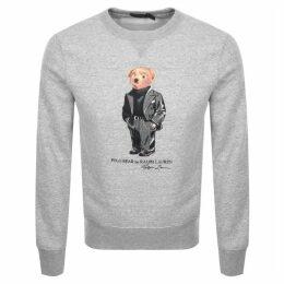 Ralph Lauren Crew Neck Bear Sweatshirt Grey