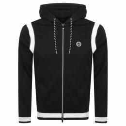 Armani Exchange Logo Full Zip Hoodie Black
