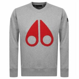 Moose Knuckles Logo Sweatshirt Grey
