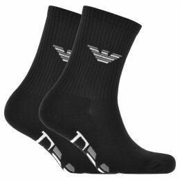 Emporio Armani 2 Pack Sport Socks Black