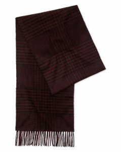 Wine Check Cashmere Scarf