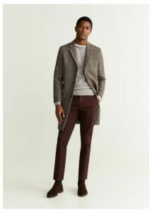 Textured wool-blend sweater