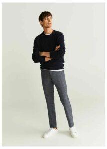 Slim fit premium wool trousers
