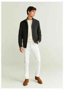 Pockets flecked jacket